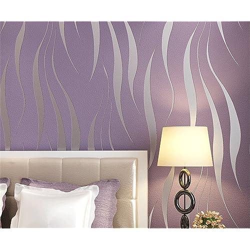 purple wallpaper for bedroom amazon co uk