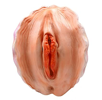 Amazon.com: wellin international WELLIN Funny Novelty Pussy Shell Overhead Mask, Latex creepiest Halloween Costume: Clothing