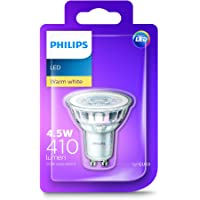 Philips LED GU10 Spot (4.5W Colour Rendering Index 80, 60 degree beam angle) - Warm White - 8718696681558