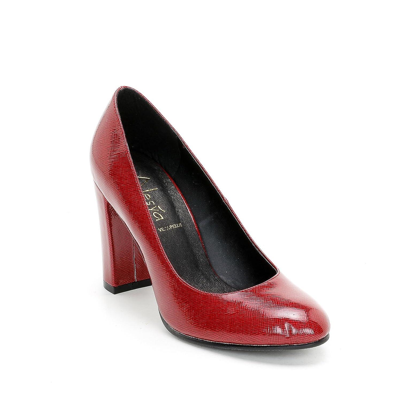 Alesya Scarpe&Scarpe - Zapatos de Salón con Efecto Brillante