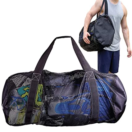 b3428f455 Extra Large Beach Bags, Mesh Tote Bag with Zipper, Lightweight Foldable,  Oversized Outdoor Storage Bag for Towels, Toys, Grocery for Sports Beach  Picnic BBQ