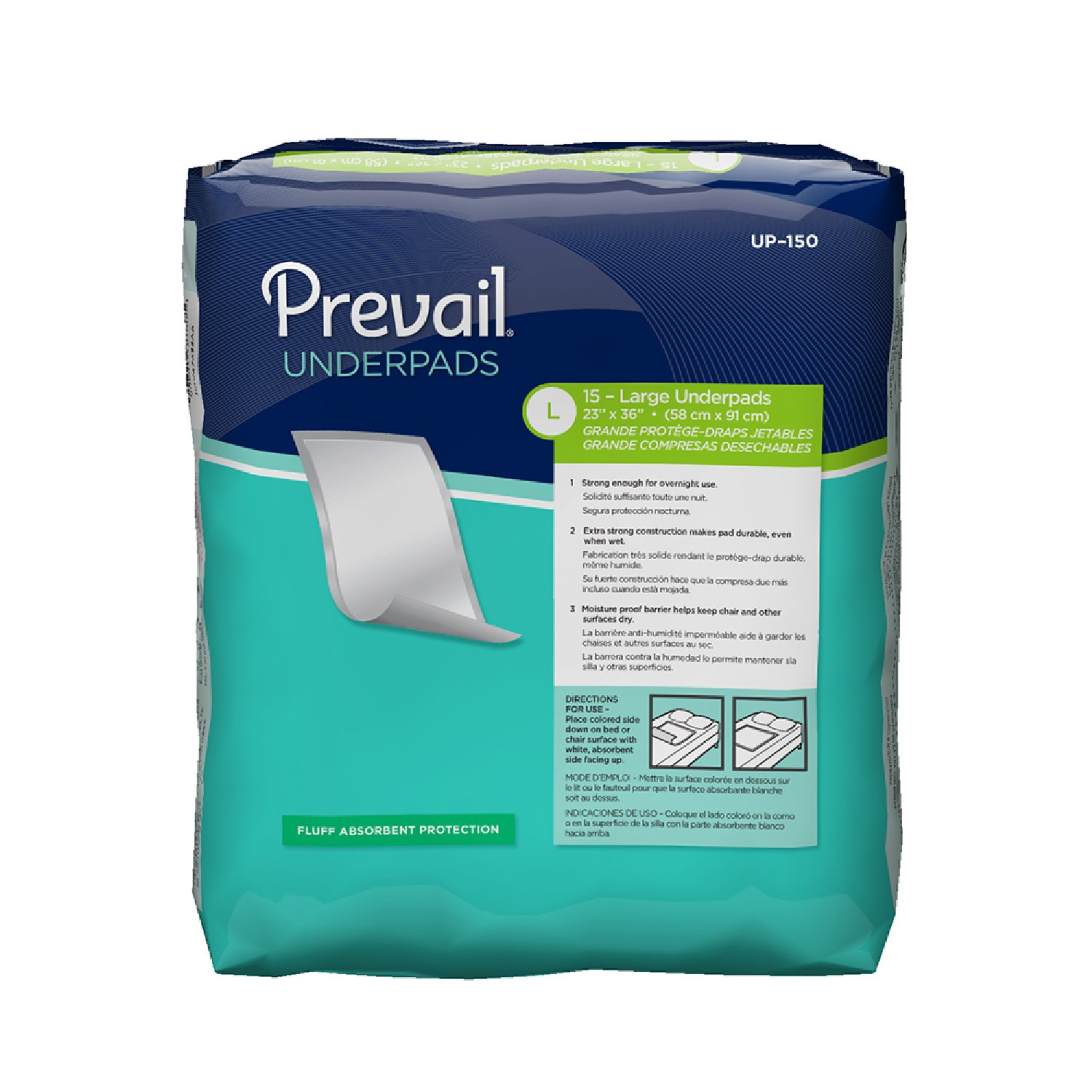 Amazon.com: Prevail Super Absorbency Incontinence Underpads Extra Large 10 Count (Pack of 4) Non-Slip Leakage Protection for Beds, Chairs & Other Surfaces: ...