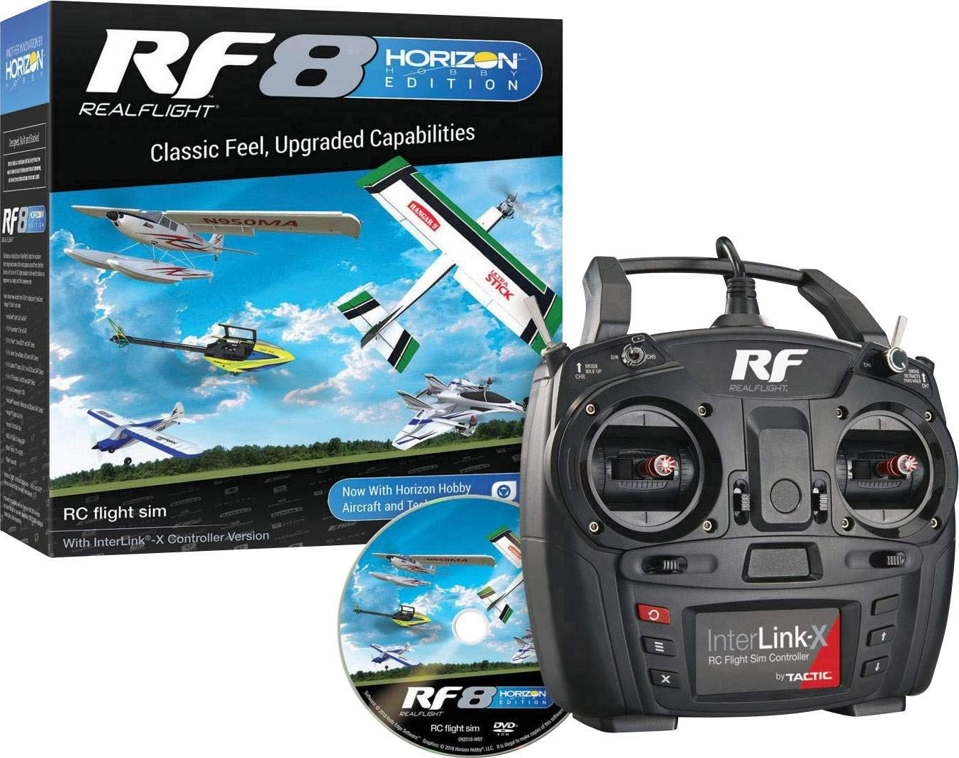 RealFlight RF8 Horizon Hobby Edition: RC Flight Simulator Software DVD with Interlink-X Transmitter Mode 2, RFL1000
