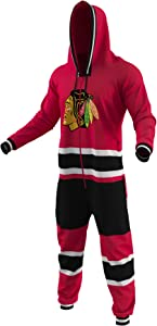 Hockey Sockey Chicago Blackhawks Ice Team Color Logo NHL Licensed Onesies Fan Apparel