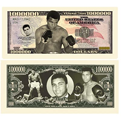 American Art Classics Limited Edition Muhammed Ali Million Dollar Bill in Currency Holder: Toys & Games