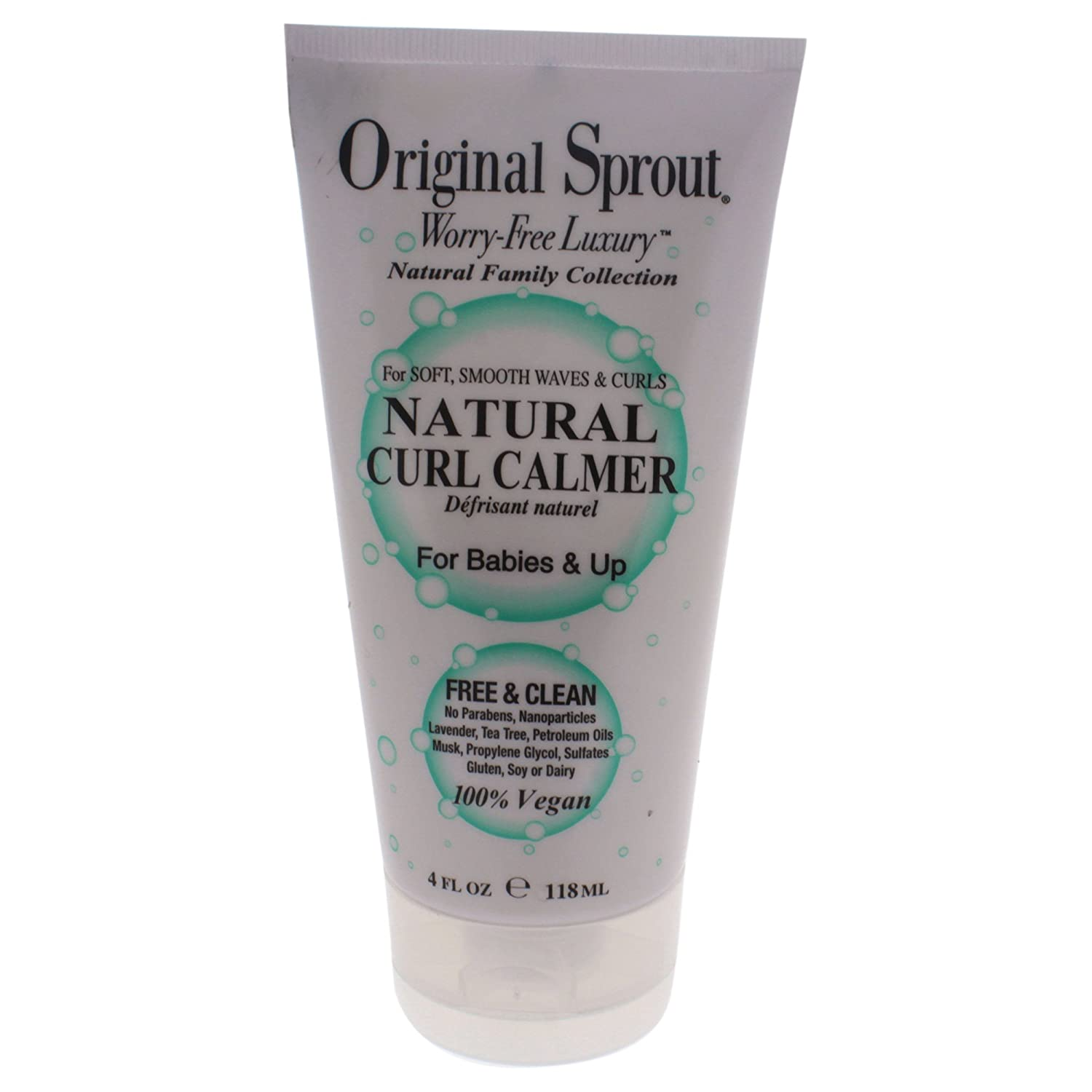 Original Sprout Natural Curl Calmer. All Natural Hair Care. Curly Hair Moisturizer and Hair Strengthener. 4 oz. 008