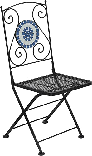Furniture of America Pallas Cast Iron Outdoor Chair, Black, Set of 2