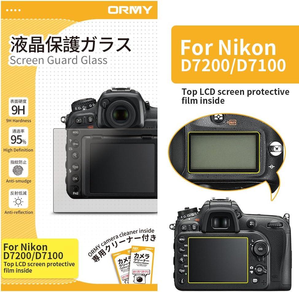ORMY 0.3mm Protector de pantalla de cámara para Nikon D7200 ...