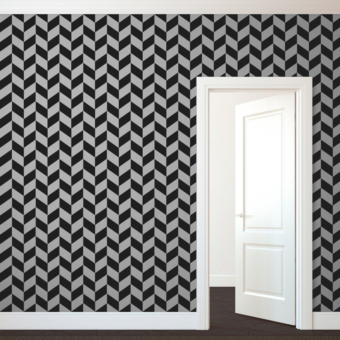 Modern Herringbone - Large - Custom Vinyl Wall Art Decal for Homes, Offices, Kids Rooms, Nurseries, Schools, High Schools, Colleges, Universities, Interior Designers, Architects, Remodelers