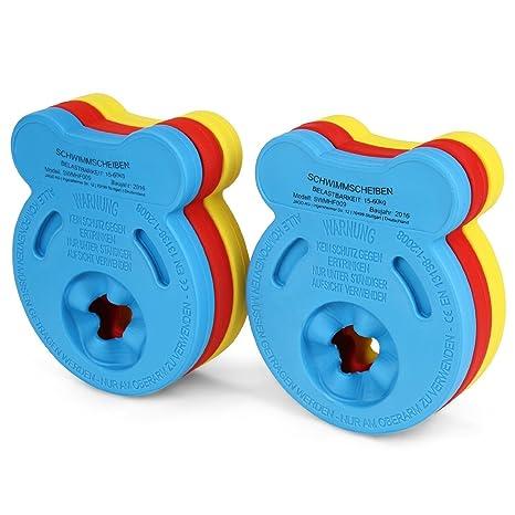 hzx flotador infantil natación arm bands de espuma para natación para discos Junior Natación Arm Juego de discos Caja de 6: Amazon.es: Deportes y aire libre