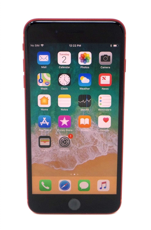 Apple iPhone 8 Plus, GSM Unlocked, 256GB - Red (Renewed)