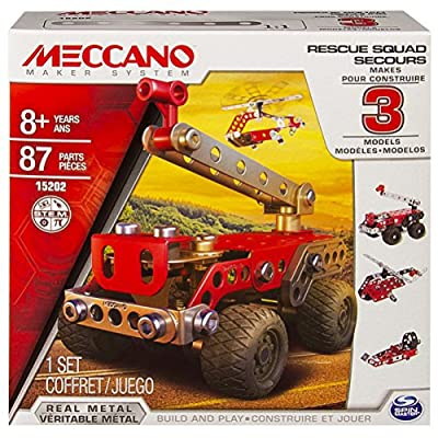 Meccano Multimodels, Rescue Squad 3 Model Set: Toys & Games [5Bkhe0500302]
