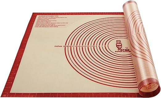 Antihafte Rutschfeste Backunterlage Backmatte Silikon 40x60cm rot