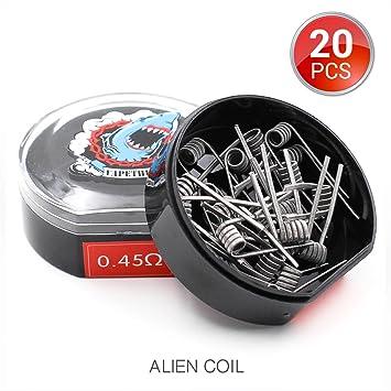 20 Stück vorkompilierte Draht Alien Clapton Coil Heating Wire, AWG ...