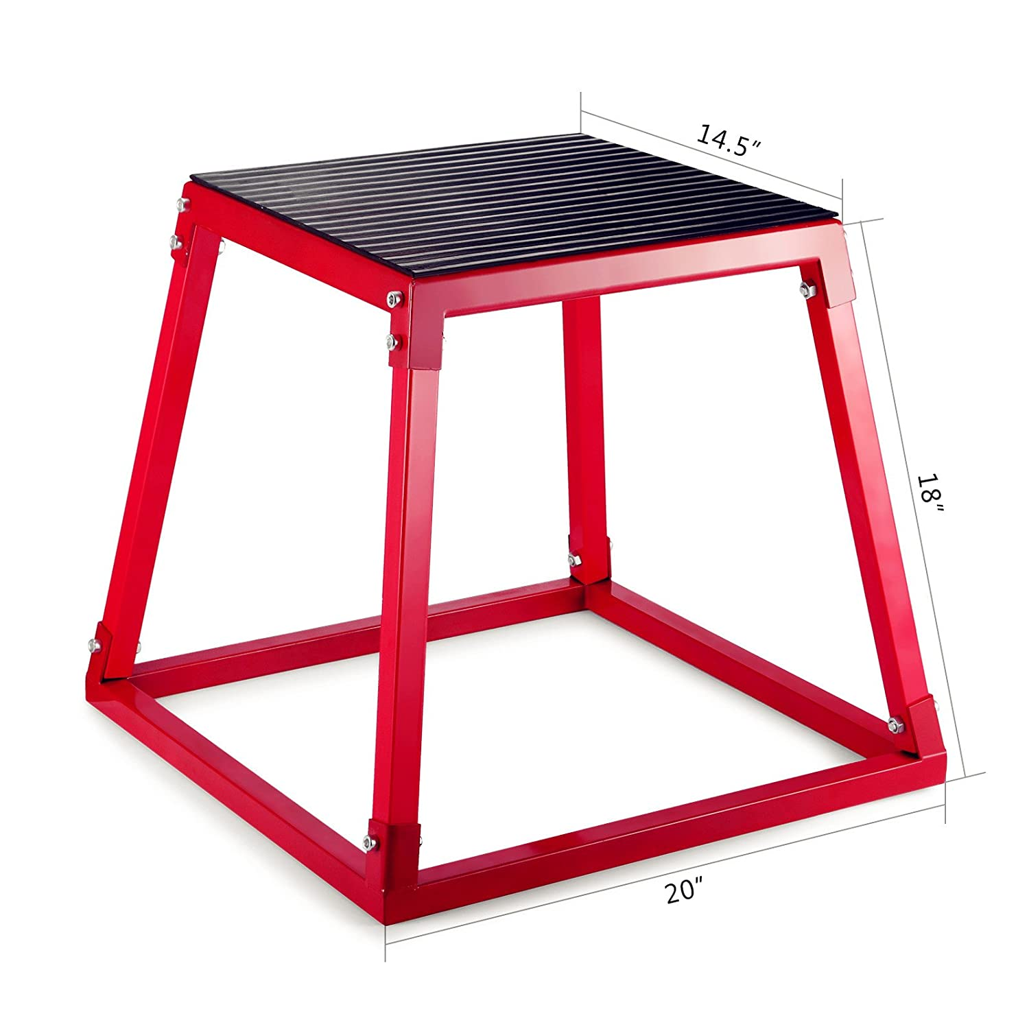"""18/"""" Fitness Exercise Jump Box Plyo Step Cross Workout 15/"""" Square Gym Sports"""
