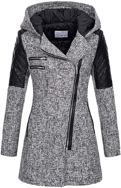 Women/'s Hoodie Zipper Thicken Warm Slim Long Coat Outwear Jacket Winter Sweater