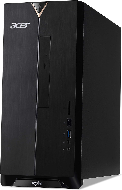 Acer Aspire TC-886 - PC desktop (Intel Core i5-9400F, 16 GB RAM, 1024 GB SSD, NVIDIA GeForce GTX 1650 (4 GB VRAM), Windows 10 Home, colore: Nero