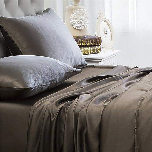 Glamorous Beddding Items With Extra Deep Pocket Egyptian Cotton Chocolate Stripe