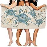 "Ocean Friends Sea Turtle Bath Towels Beach Bathroom Body Shower Towel, 31.5"" X 51.2"" Mini Multi-purpose, Ideal For Home And Travel Use"