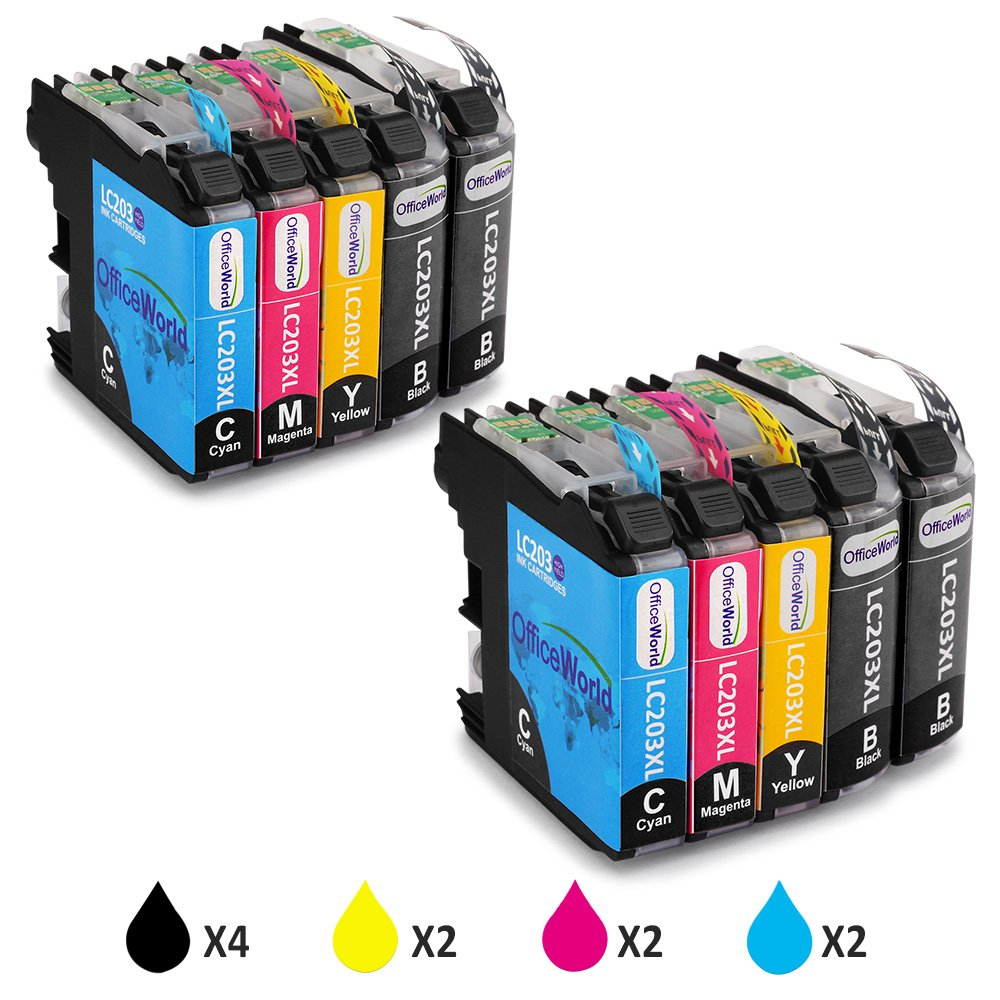 Office World Compatible Ink Cartridge Replacement for Brother LC203XL 10 Pack,Compatible with Brother MFC-J480DW MFC-J880DW MFC-J460DW MFC-J4620DW MFC-J4420DW MFC-J5520DW MFC-J680DW MFC-J5720DW by Office World (Image #1)