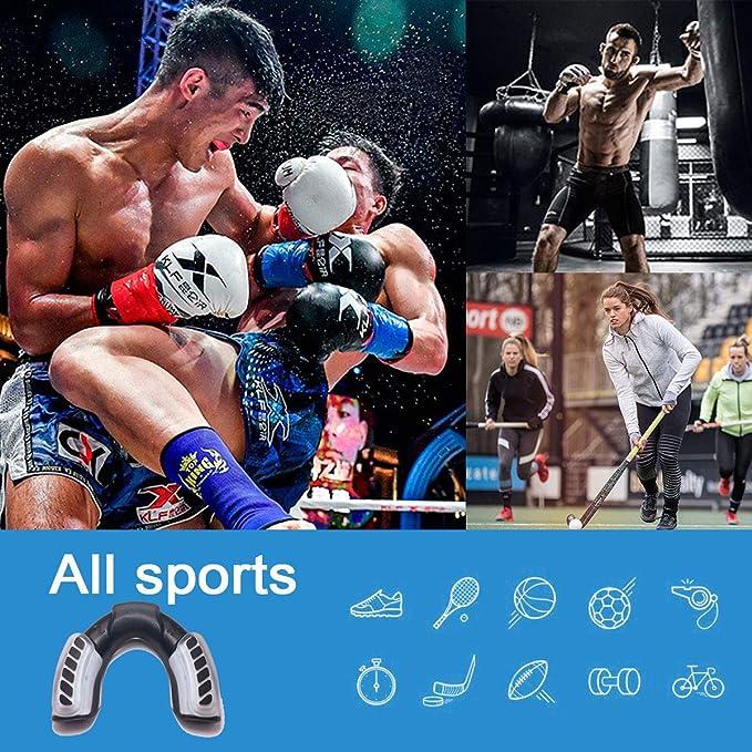 T-Clint Protege Dent Gum Shield Guard Sports Mouthguard Auto-Moule Protection Double Couche Prot/ège-Dents id/éal pour la Boxe de Rugby MMA UFC Hockey Gym Football Karat/é /& Tous Les Sports de Contact