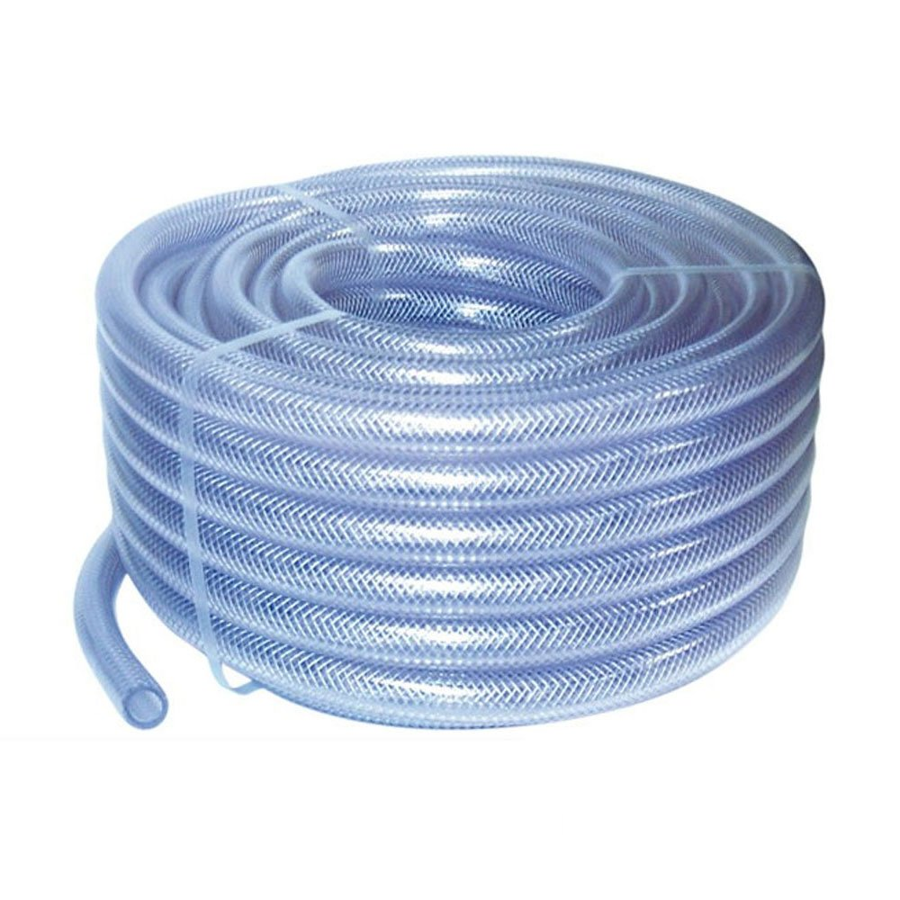 10mm ID 5 Metre Length Clear Braided PVC Hose With Synthetic Reinforment - Au.