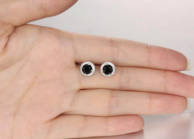 Dividiamonds 14K White Gold Plated 1.52Ct Pink Sapphire /& CZ Diamond Drop Pendant Necklace W//18 Chain