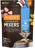 Instinct Freeze Dried Raw Boost Mixers Grain Free Cage Free Turkey Recipe All Natural Dog Food Topper by Nature's Variety, 6 oz. Bag