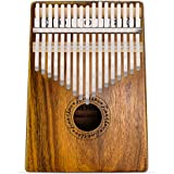 Finger Piano 17 Key Kalimba Thumb Piano Koa Wood Body Ore Metal Tines with Tuning Tool and Carry Bag by Finether