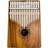 Kalimba 17 Key Mbira Finger Piano Thumb Piano Koa Wood Body with Tuning Tool and Carry Bag