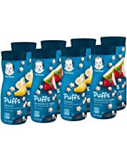 Gerber Puffs Cereal Snack, Banana & Strawberry Apple, 8 Count