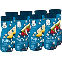 Deals on 8-Pack Gerber Puffs Cereal Snack, Banana & Strawberry Apple
