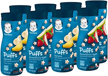 8 Count Gerber Graduates Puffs Banana and Strawberry Apple