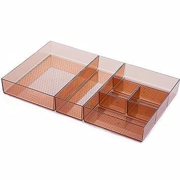 Bamber DIY compartimentos, bandejas de cubiertos, cubiertos bandeja, cajón organizadores, Kichen organización, cubiertos de almacenamiento: Amazon.es: Hogar