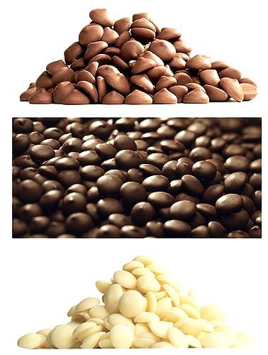 Callebaut 3 x 1kg Bundle - Cobertura de Chocolate con Leche, Negro & Blanco Belga - Finest Belgian Chocolate (Callets) Lote de 3 x 1kg: Amazon.es: ...