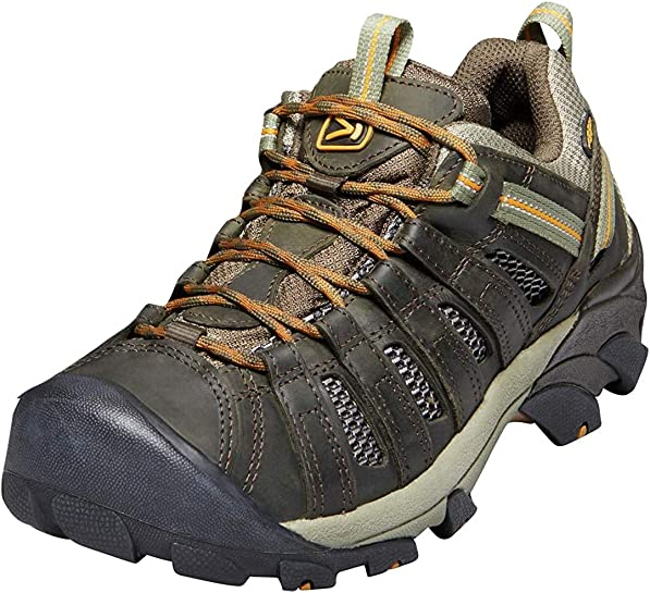KEEN Voyageur Hiking Shoe – Men s Black Olive Inca Gold, 14.0