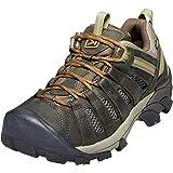 KEEN Men's Voyageur Trail Shoe, Black Olive/Inca Gold, 10 M US