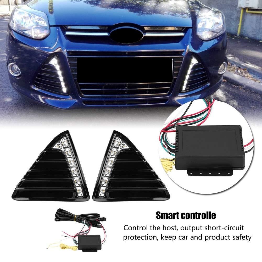 Doble par Luces LED Tipo DRL para Ford Focus MK3 12-14 Wallfire 1 par de Luces diurnas de circulaci/ón Diurna para autom/óvil