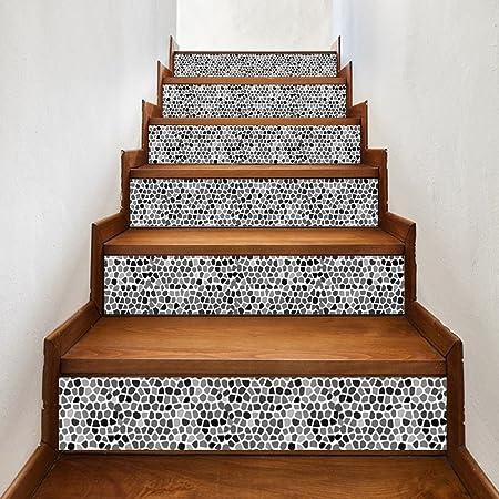 HomeARTS Etiquetas Engomadas De La Escalera Calcomanías Extraíble Autoadhesivo Estilo árabe PVC Escaleras Impermeables Papel Tapiz para Sala De Estar Decoración 6 Unids/Set LT020: Amazon.es: Hogar
