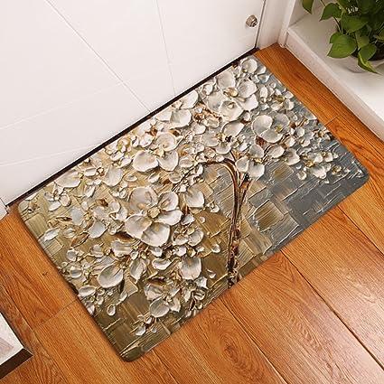 Amazon.com: YU&AN Bathroom carpet mat,Absorb matt Non-slip kitchen ...