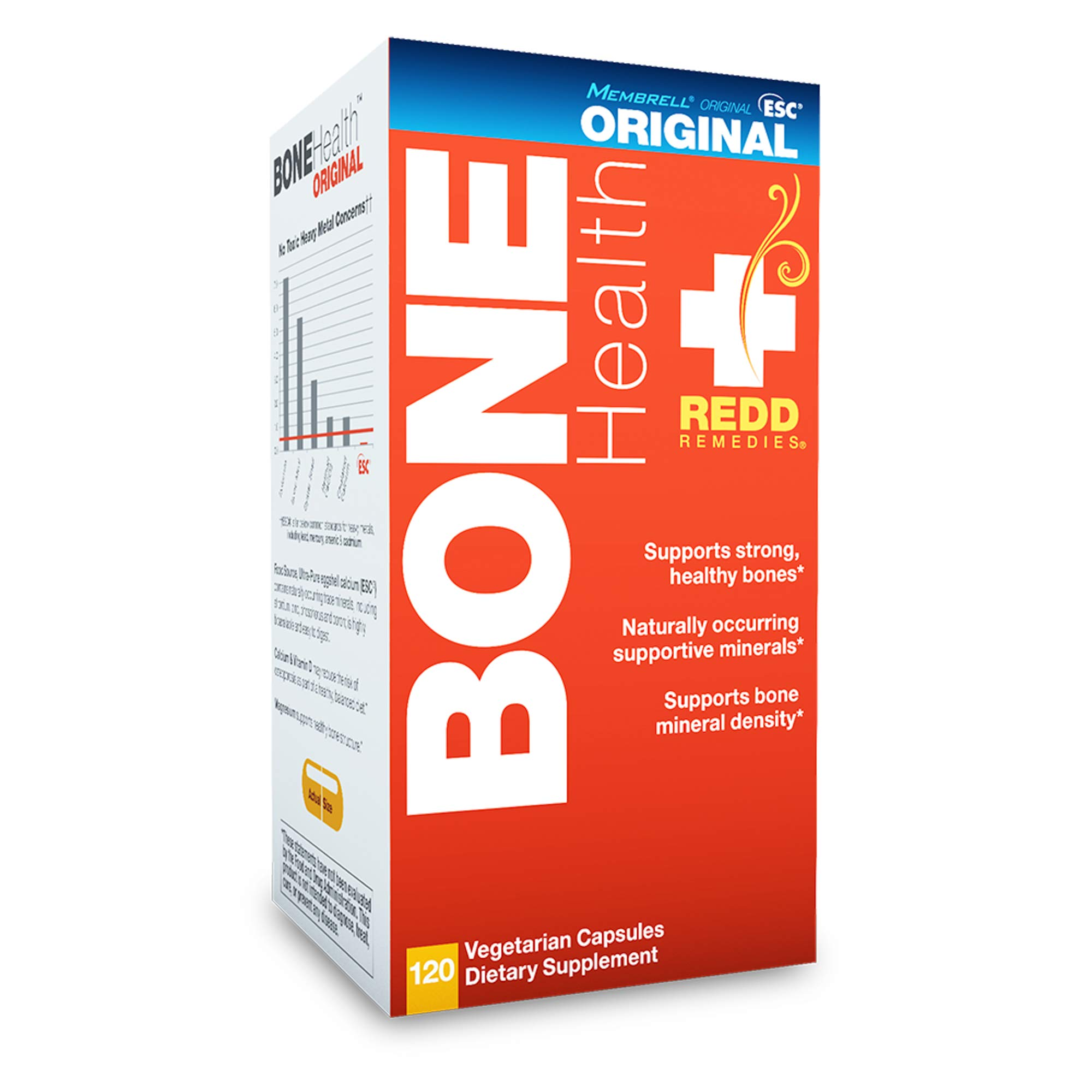 Redd Remedies - Bone Health Original, Vitamin D3 and Calcium for Strong Bone Support, 120 count by Redd Remedies