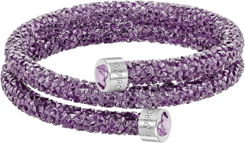 Swarovski Crystaldust Heart Double Bangle - Purple - 5278497