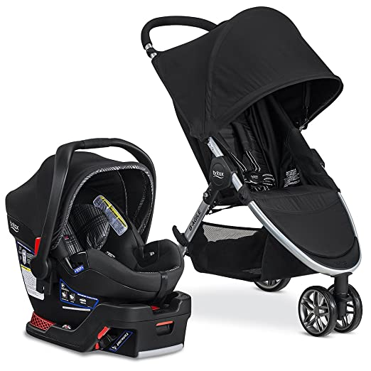 Britax 2017 B Agile & B Safe 35 Elite Travel System stroller, Domino