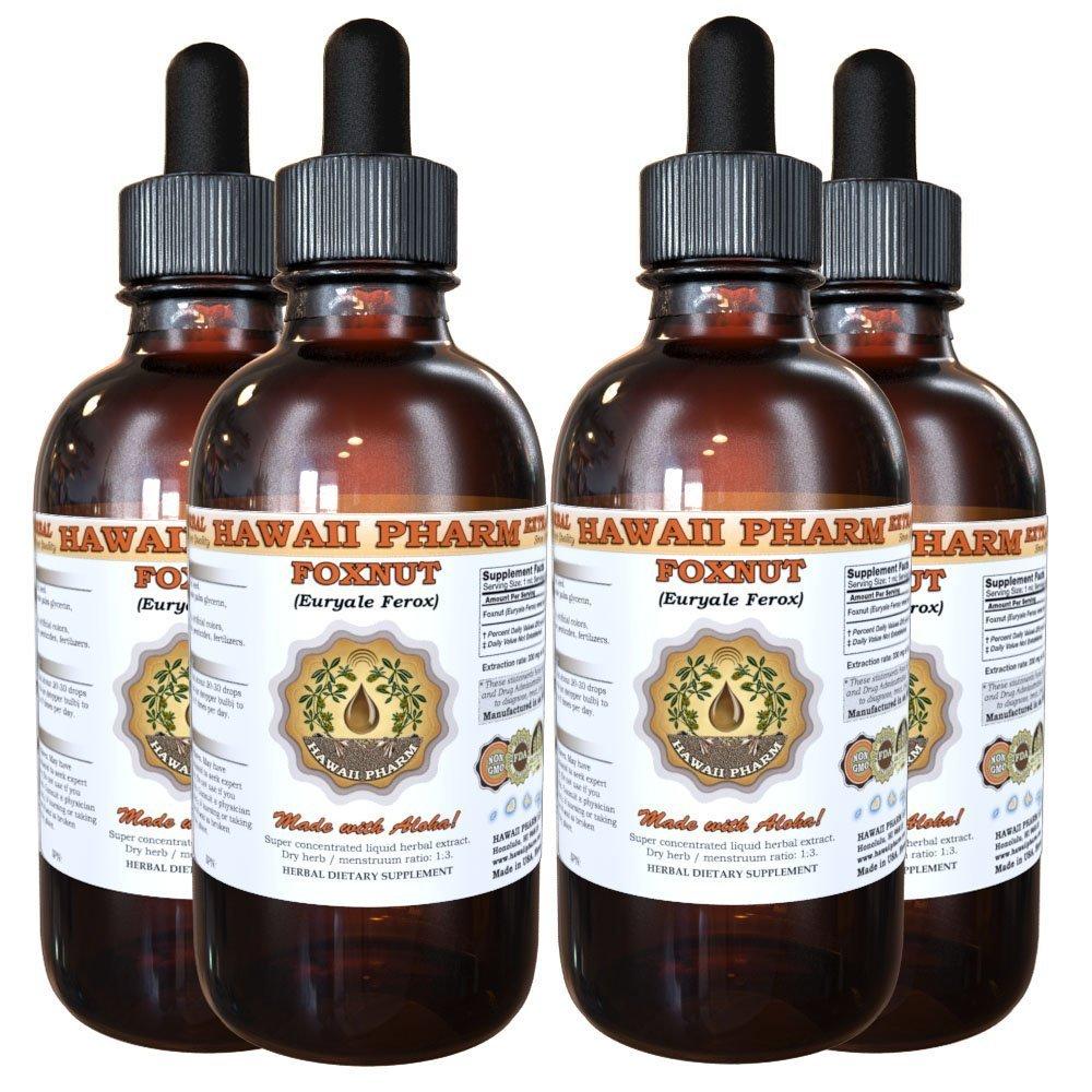Foxnut (Euryale Ferox) Tincture, Organic Seeds Liquid Extract, Qian Shi, Herbal Supplement 4x4 oz