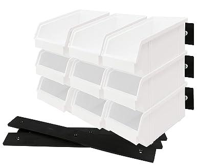 Lantelme 9 piezas Caja organizadora Abierta con soporte de pared ...