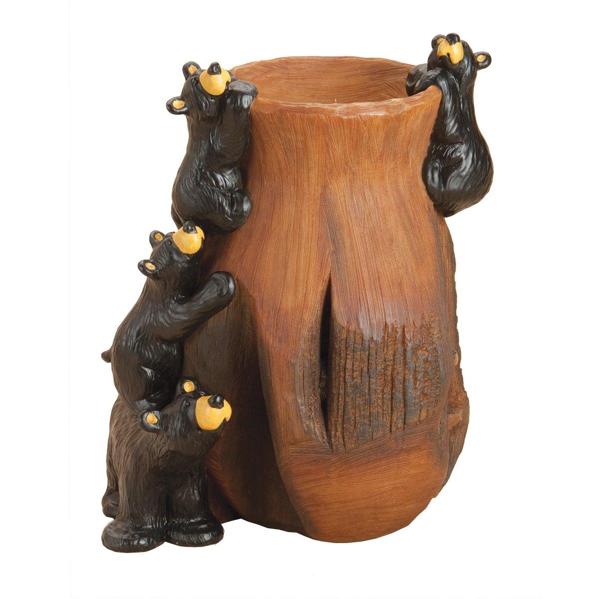 Big Sky Carvers Bearfoots Curious Cubs Grand Vase