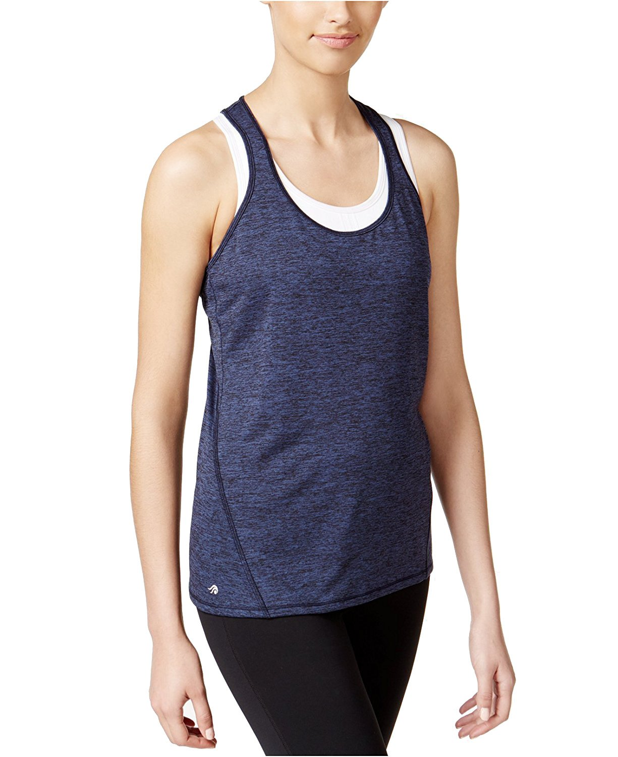 Ideology Heathered Racerback Tank Top Sweet Fig XS