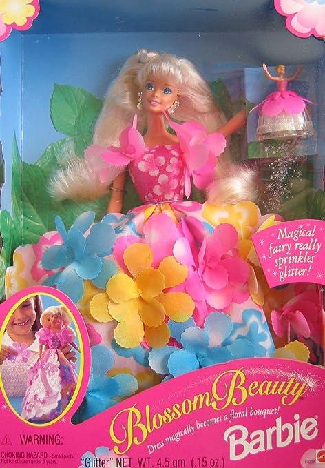 b56375c329a Amazon.com: Barbie Blossom Beauty Doll w Magical Fairy Sprinkles ...