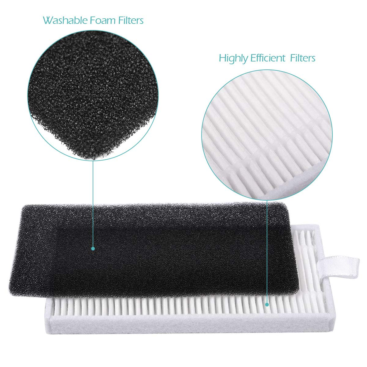 Keepow Replacement For Deebot 500 N79s Main Brush Filter