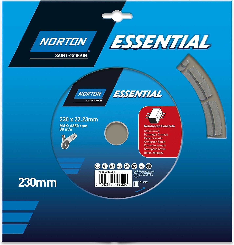 Norton 70184602433 Disque /à tron/çonner diamant 230x22.23mm B/éton//arm/é
